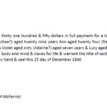 1846 Slave Sale Text
